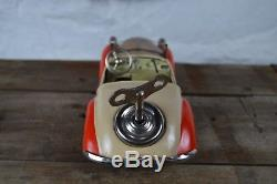 Vintage 1940s US Zone Germany Distler Tin Windup Convertible BMW Toy Car Working