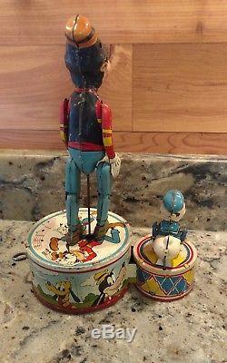 Vintage 1946 Marx Walt Disney's Donald Duck/goofy Duet Tin Lithograph Wind-up