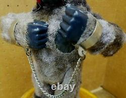 Vintage 1950's Marx Toys Wind Up Gorilla (King Kong) In Working Condition