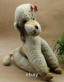 Vintage 1950's Merrythought Toy Pet Poodle Dog with Musical Wind Up Tail