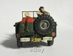 Vintage 1950s Arnold USA Military Police Jeep 2500 Tin Model Car