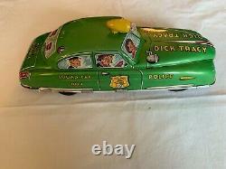Vintage 1950s Tin DICK TRACY SQUAD CAR No. 1