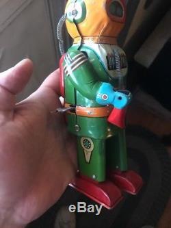Vintage 1955 Naito Shoten Interplanetary Explorer Robot Windup Space Toy Astro