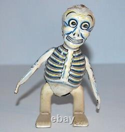 Vintage 1960s Sam the Strolling Skelton Tin Wind-up Halloween Monster Japan