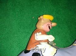 Vintage 1963 Marx Barney Rubble Dino Wind Up Tin Flintstones great colors rare