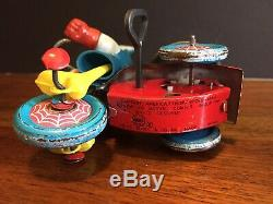 Vintage 1968 Marx Marvel Super-Heroes Captain America Wind Up Tricycle Trike Toy