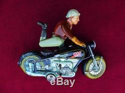 Vintage 8 Arnold Mac 700 US Zone Germany Tin Windup Motorcycle