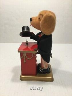 Vintage Alps Triksie The Magician Dog Tin Litho Wind-up Toy, Japan, Rare Nmc