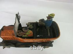 Vintage Amos N Andy Wind Up Marx Rare Rumble Car Toy Collectible 684-f
