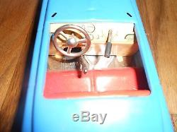 Vintage Antique GERMANY DISTLER 5 SPEED Key WIND-UP TOY CAR With STEERING & BOX