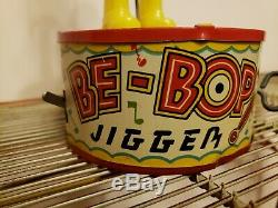 Vintage Antique Marx Be-Bop Jigger Wind Up Tin Toy Dancer Black Americana