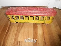 Vintage Antique Toy DAYTON HILLCLIMBER FLOOR TROLLY CAR Very Neat Early Piece