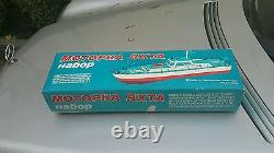 Vintage Boat Ship Wind Up'kuibyshev Parahod Toy Soviet Cccp Orig. Box And Key