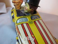 Vintage Bump & Go Tin Wind-up Charlie McCarthy and Mortimer Snerd Car 1939