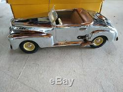 Vintage Cromato Chrome Marchesini MLB Italy Ford Fordor Tin Wind Up Toy Car
