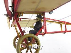 Vintage DBS Kranich Keiner Ausser Heiner Airplane Plane Tin Wind Up Toy Germany