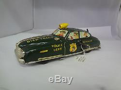 Vintage Dick Tracy Police Wind Up Car No. 1 176-g