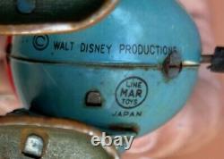 Vintage Disney LineMar Japan Tin Litho Toy Wind Up Goofy
