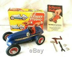 Vintage Early Schuco Studio 1050 Racer-w Org Box & Parts-5.5- Germany Toy