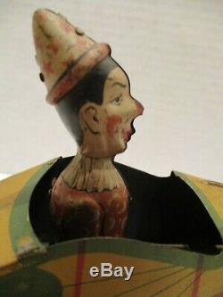 Vintage Ferdinand Strauss Tin Litho Wind Up Krazy Kar
