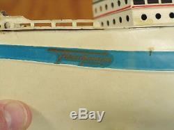 Vintage Fleischmann 13 Tin Clockwork Ocean Liner For Restoration 18220