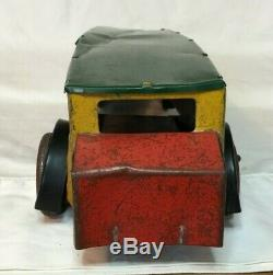 Vintage GIRARD TOYS DeLuxe Bus Tin Wind Up Toy