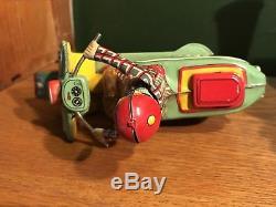 Vintage GIYA Toys Co. Rabbit Japan Tin Litho Friction Scooter