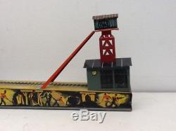Vintage German Arnold Tintype Wind-up Coal Mine with Sparks & Smoke Lithograph Toy