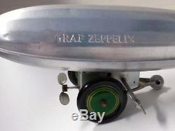Vintage Graf Zeppelin WindUp Toy Aluminum Body withTin Wheels & Working Mechanism