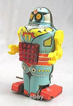 Vintage Greek Tin Wind Up Mechanical Robot - Mint in the Box