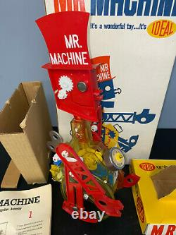 Vintage Ideal Mr Machine Wind-up Robot Walker Toy Complete In Box 1960