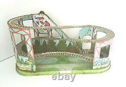 Vintage J. Chein Roller Coaster Wind Up Tin Toy