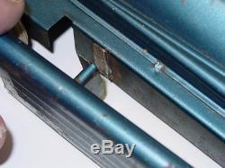 Vintage Kingsbury Golden Arrow Racer, Pressed Steel Toy, Wind Up, Blue