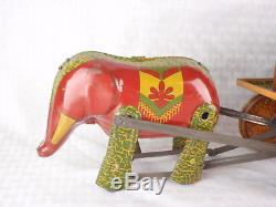 Vintage Lindstrom Tin Wind Up Barnum Bailey Circus Parade Toy Set