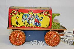 Vintage Lindstrom Tin Wind Up Circus Parade Elephant Monkey Lion Camel VG L@@K
