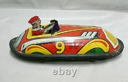 Vintage Lindstrom Toy Tin Wind Up Car