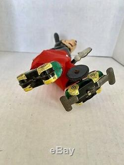 Vintage Linemar Mickey Mouse Wind-up Roller Skater in Great Condition