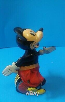 Vintage Linemar Tin Wind up Mickey Mouse Unicycle