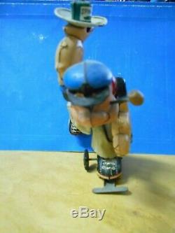 Vintage Linemar/marx Mechanical Roller Skater Popeye Tin Wind-up Toy-works Great