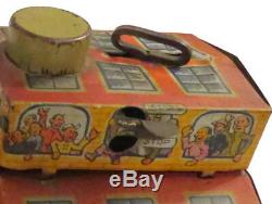 Vintage Louis Marx Main Street Tin Litho Metal Wind Up Toy From 1920s It Works