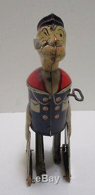 Vintage Louis Marx Tin Popeye Wind Up Nice & Works
