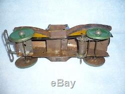 Vintage MARX Tin wind up 50 50 roadster Toy Car great colors