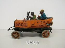 Vintage Marx Amos & Andy Fresh Air Taxi Car Tin Litho Wind Up Toy Works