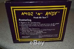 Vintage Marx Amos'n' Andy Fresh Air Wind Up Tin Litho Taxi Cab Mth With Box