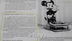 Vintage Marx Linemar Walt Disney Productions Mickey Mouse Tin Wind Up Toy Rare