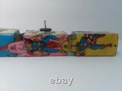 Vintage Marx Marvel Wind-Up Train Super Hero Express America-Goblin-Spider-Thing