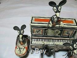 Vintage Marx Merry Makers Mouse Band Tin Wind Up Working Merrymakers