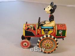 Vintage Marx Mickey Mouse Wind-up Wacky Dipsy Car