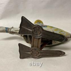 Vintage Marx Mother Goose Wind-up Tin Litho Toy