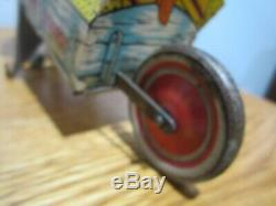 Vintage Marx Popeye Express Wind Up Tin Toy Fixed Parrot
